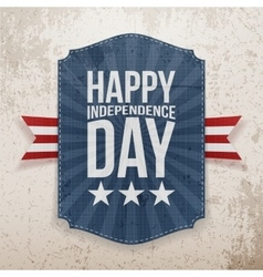 Happy independence day realistic poster vector