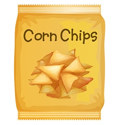 A packet of corn chips vector image vector image