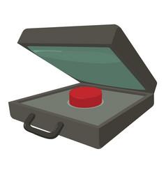 Alarm button icon cartoon style vector
