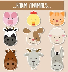 animals face vector image