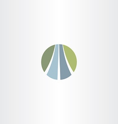 Auto road icon highway logo vector