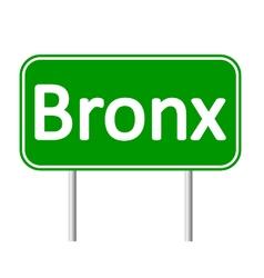 Bronx green road sign vector