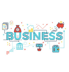 business word lettering vector image vector image