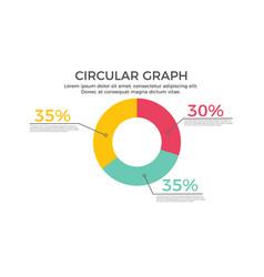 Circular graph infographic element vector