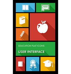 Colorful back to school user interface mobile app vector