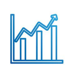 Financial growth business chart diagram vector