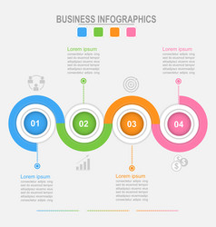 four options infographic connection business vector image vector image