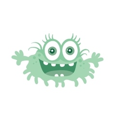 Funny smiling germ blue cartoon character vector