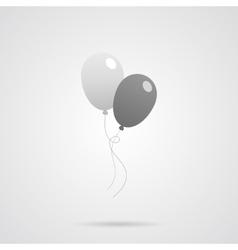 Gray Balloons Flat Icon vector image