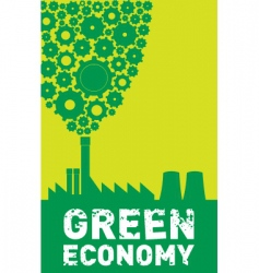 green economy vector image vector image