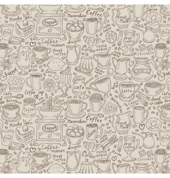 hand-drawn doodle coffee and tea vector image