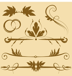Leafy design elements vector