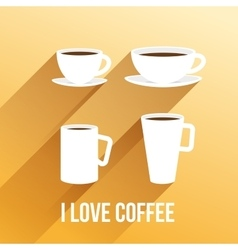 Llustration with coffee cups vector