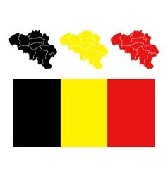 Map belgium vector