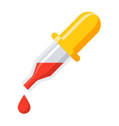 medical pipette icon vector image vector image