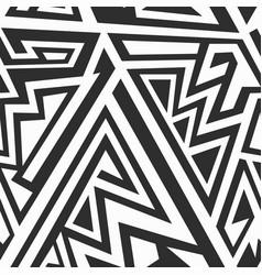 monochrome maze patern vector image vector image