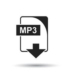 Mp3 icon flat mp3 download sign symbol with vector