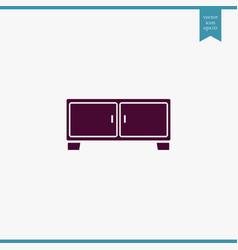 Nightstand icon simple furniture sign vector