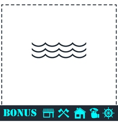 Ocean or sea icon flat vector image