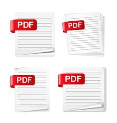 Pdf files vector