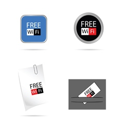 set icon for free wi fi vector image vector image