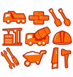 set industrial tools isolated icons vector image