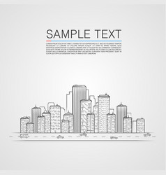 sketch city landscape background vector image vector image