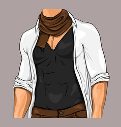 stylish attractive man vector image