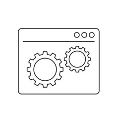 web development line icon vector image vector image