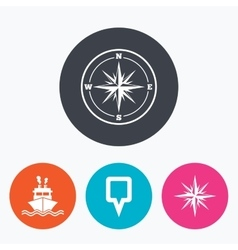 Windrose navigation compass shipping delivery vector image vector image