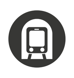 Subway transport public icon vector