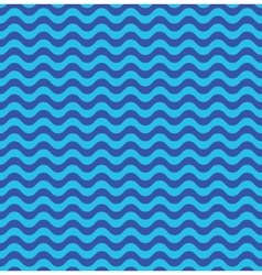 Blue sea waves seamless pattern vector