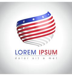 American flag logo vector