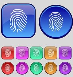 Scanned finger icon sign a set of twelve vintage vector