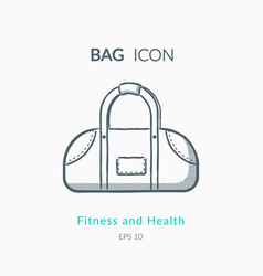 Sports bag icon on white background vector