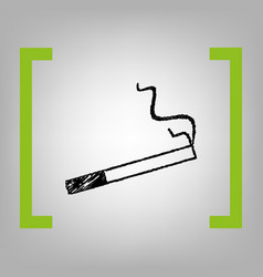 smoke icon great for any use  black vector image