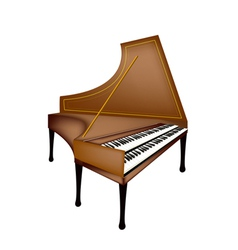 A retro harpsichord isolated on white background vector