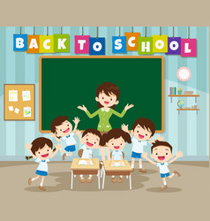 Back to school with primary school pupil vector