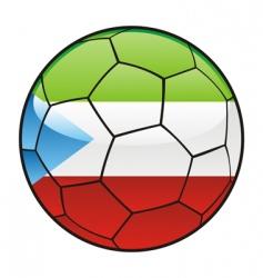 Equatorial guinea flag on soccer ball vector