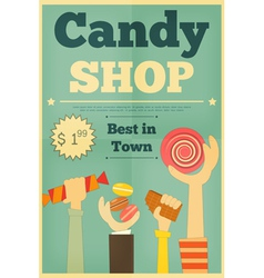candy shop hands vector image