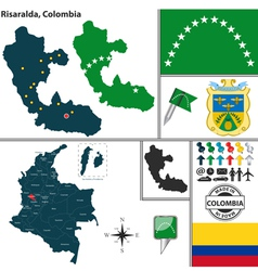 Map of risaralda vector