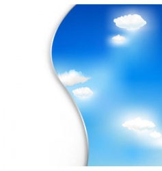 Background with clouds and sky vector