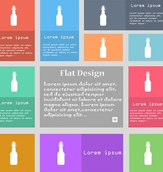 Bottle icon sign set of multicolored buttons with vector