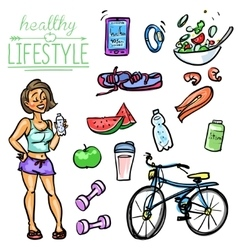 Healthy lifestyle - woman vector