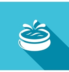 Swimming pool icon vector