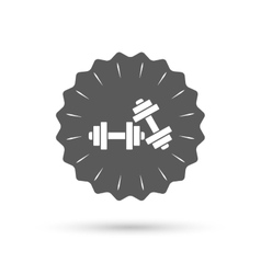 Dumbbells sign icon fitness sport symbol vector