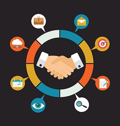 Customer Relationship Management - vector image