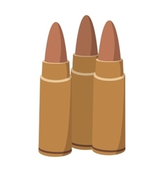 Three bullets cartoon icon vector