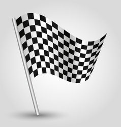 Black and white checkered finishing racing flag vector