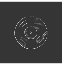 Turntable drawn in chalk icon vector